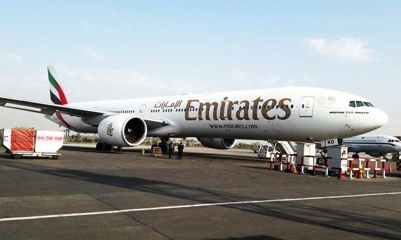 A parliamentary committee was told that Emirates airline has refused to use passenger boarding bridges at airports in Pakistan after an air bridge collapsed at the new Islamabad International airport last month. — Tahir Naseer/File photo