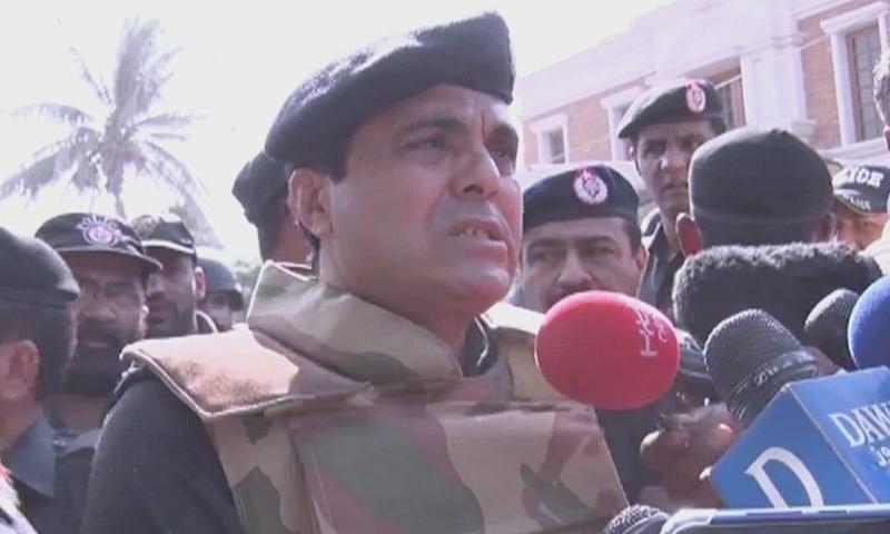 کراچی پولیس چیف امیر شیخ — فوٹو: ڈان نیوز