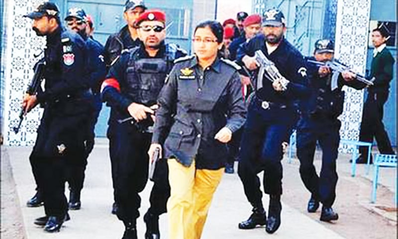 Suhai Aziz Talpur is the first woman from lower Sindh to join the police force.—File photo