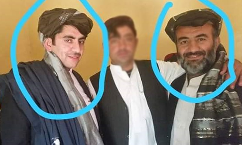 Niaz Muhammad (right) and his son Zahir Shah (left) were laid to rest in Quetta on Saturday. — DawnNewsTV