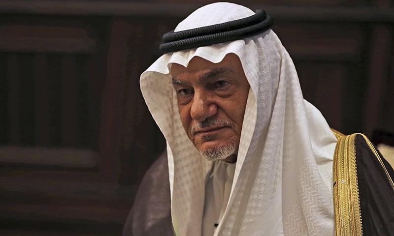 Saudi Prince Turki al-Faisal talks to the Associated Press in Abu Dhabi, United Arab Emirates on November 24, 2018. — AP