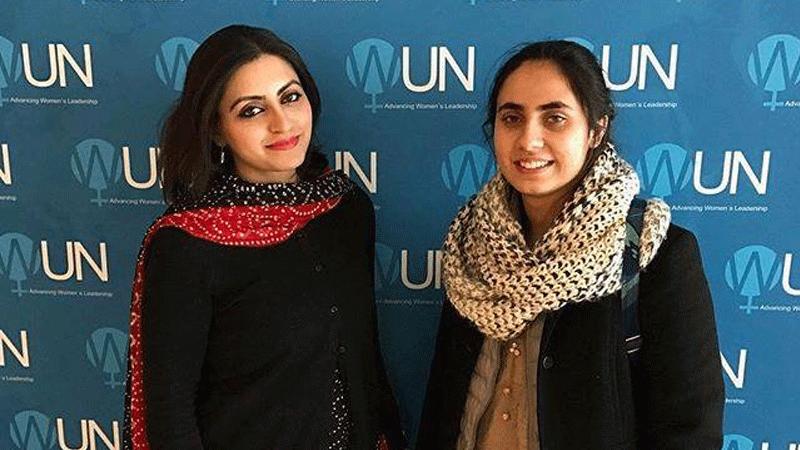 Noorena at the UN. Photo: Facebook/NoorenaShams