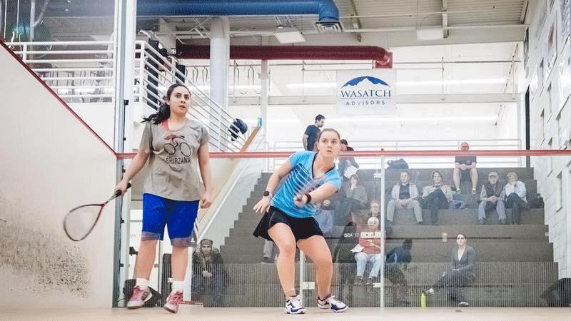 Noorena during a squash competition. Photo: Facebook/NoorenaShams