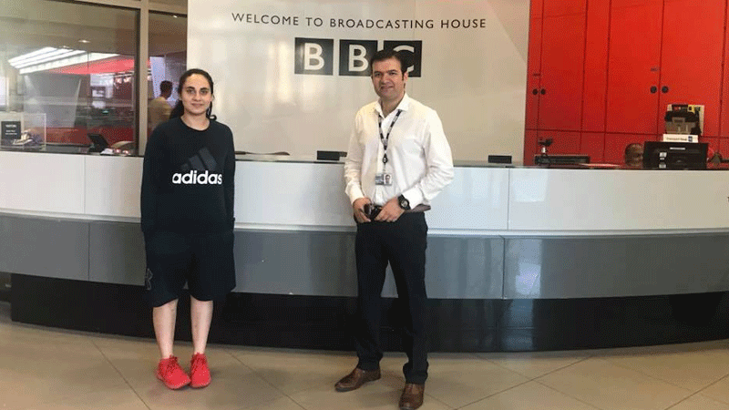 Noorena invited to the BBC to speak many issues that sports face in Pakistan and their solutions. Photo: Facebook/NoorenaShams