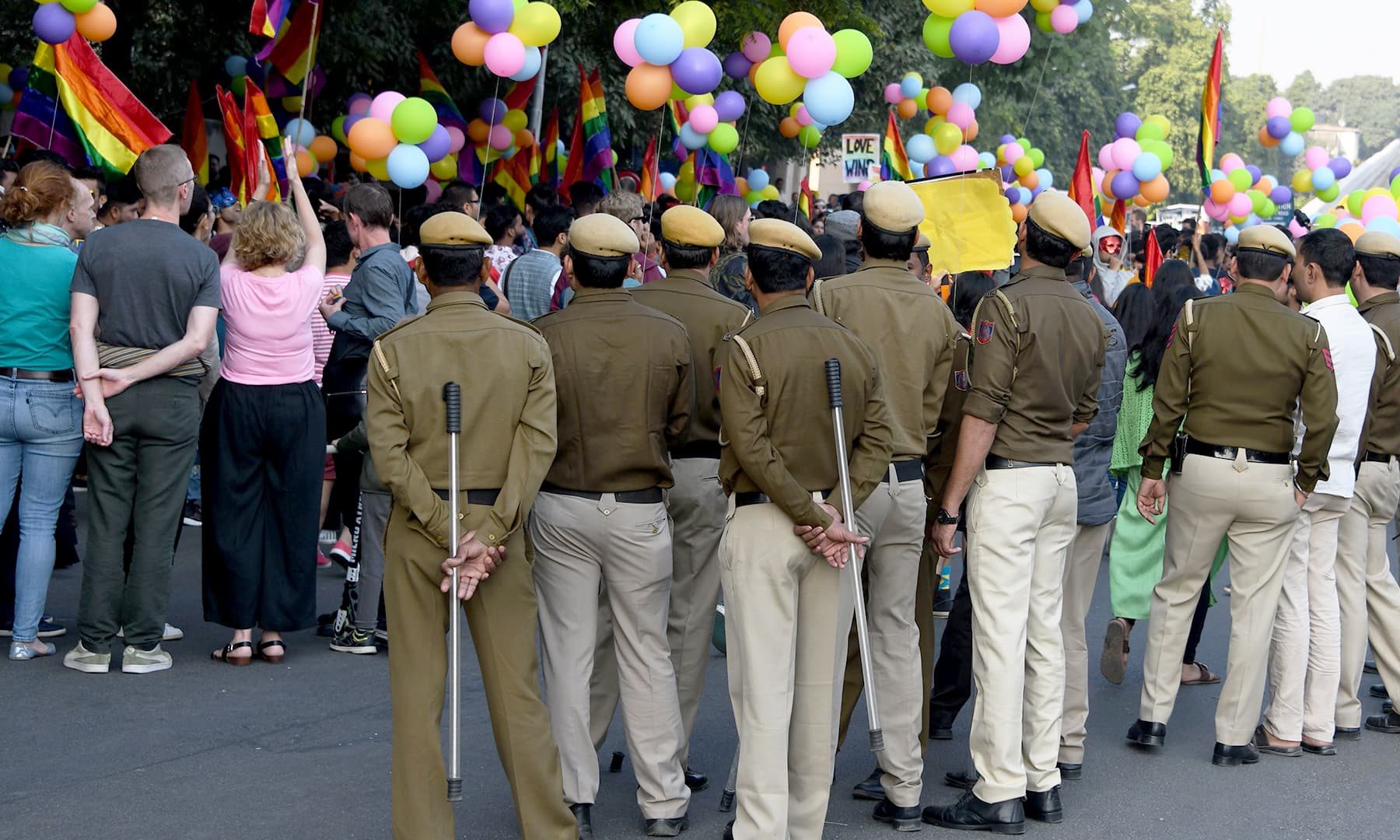 """It's the first time we are not marching as criminals,"" said Deepti, one of the organisers from the Delhi Queer Pride Group. —AFP"