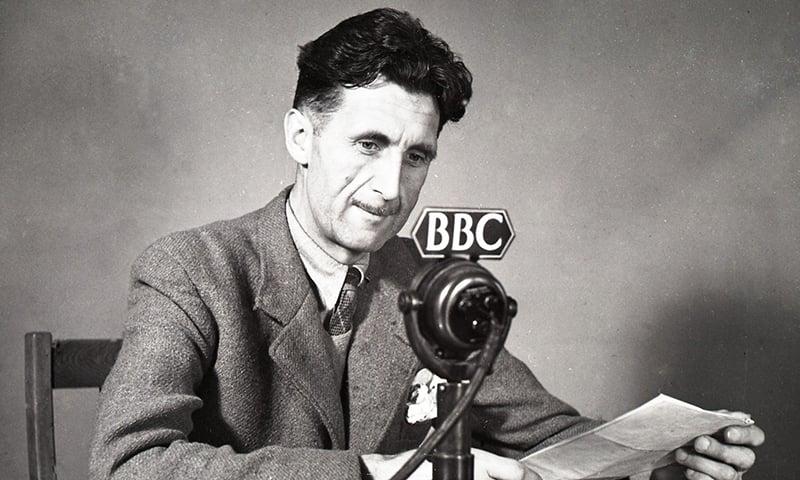 برطانوی مصنف اور صحافی جارج آرویل—تصویر بشکریہ بی بی سی