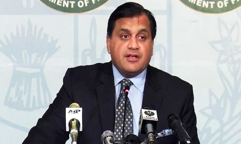 Dr Mohammad Faisal addressed the Kashmir Conference in Islamabad on Tuesday. — PID/File photo