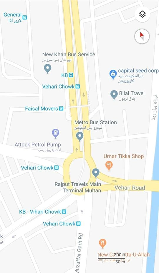Multan Metro Bus Transit Routes Available On Google Maps