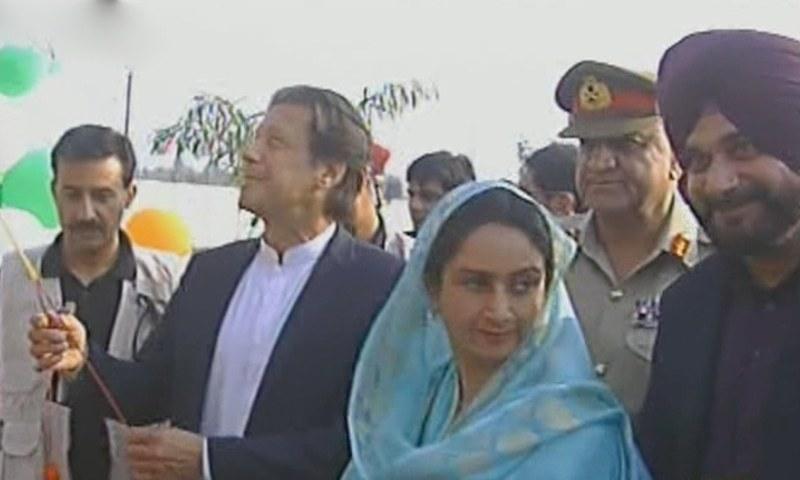 وزیراعظم عمران خان نے  کرتارپور راہداری کا سنگِ بنیاد رکھ دیا—فوٹو: ڈان نیوز