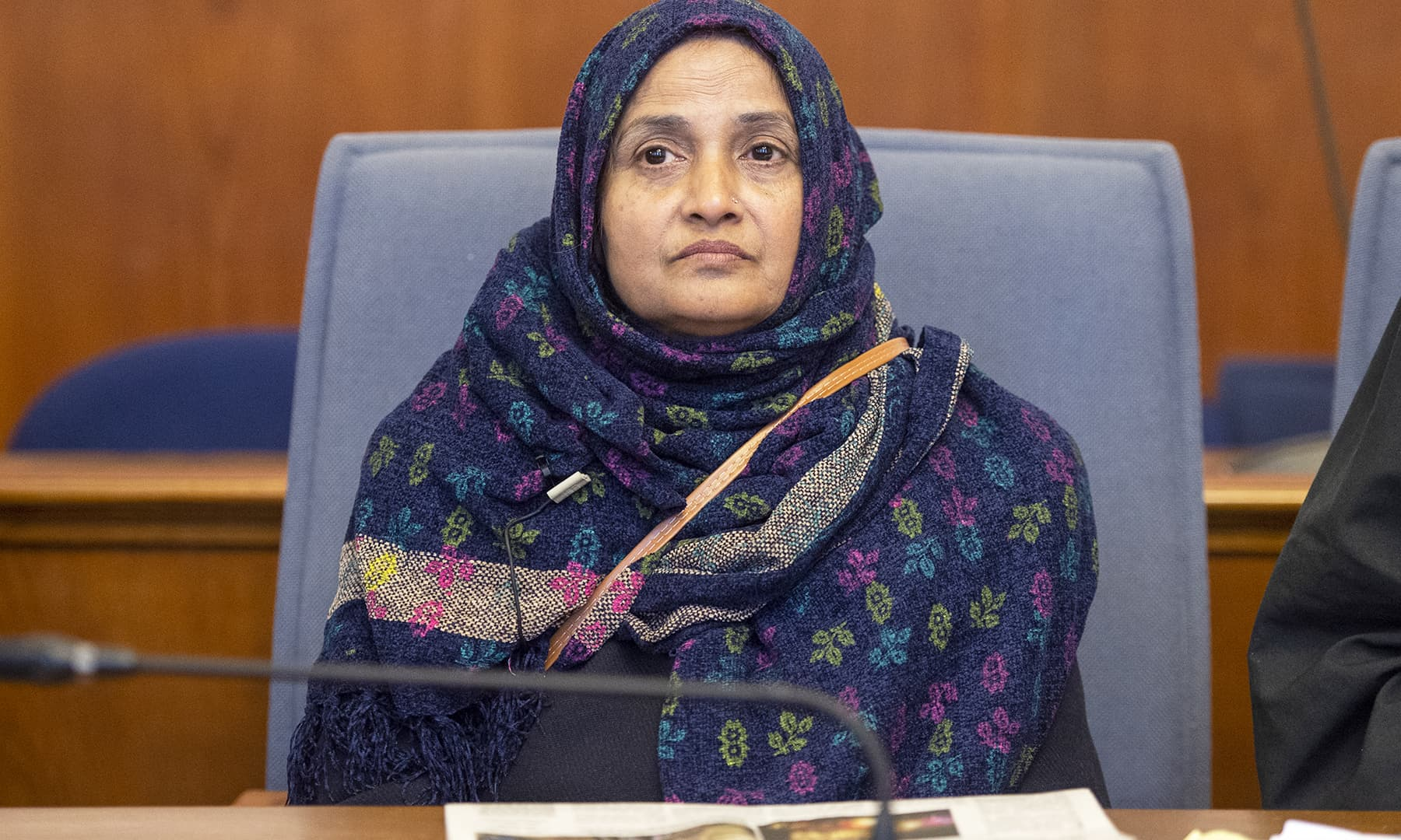 Saeeda Khatoon pictured in the courtroom during the hearing. — AP