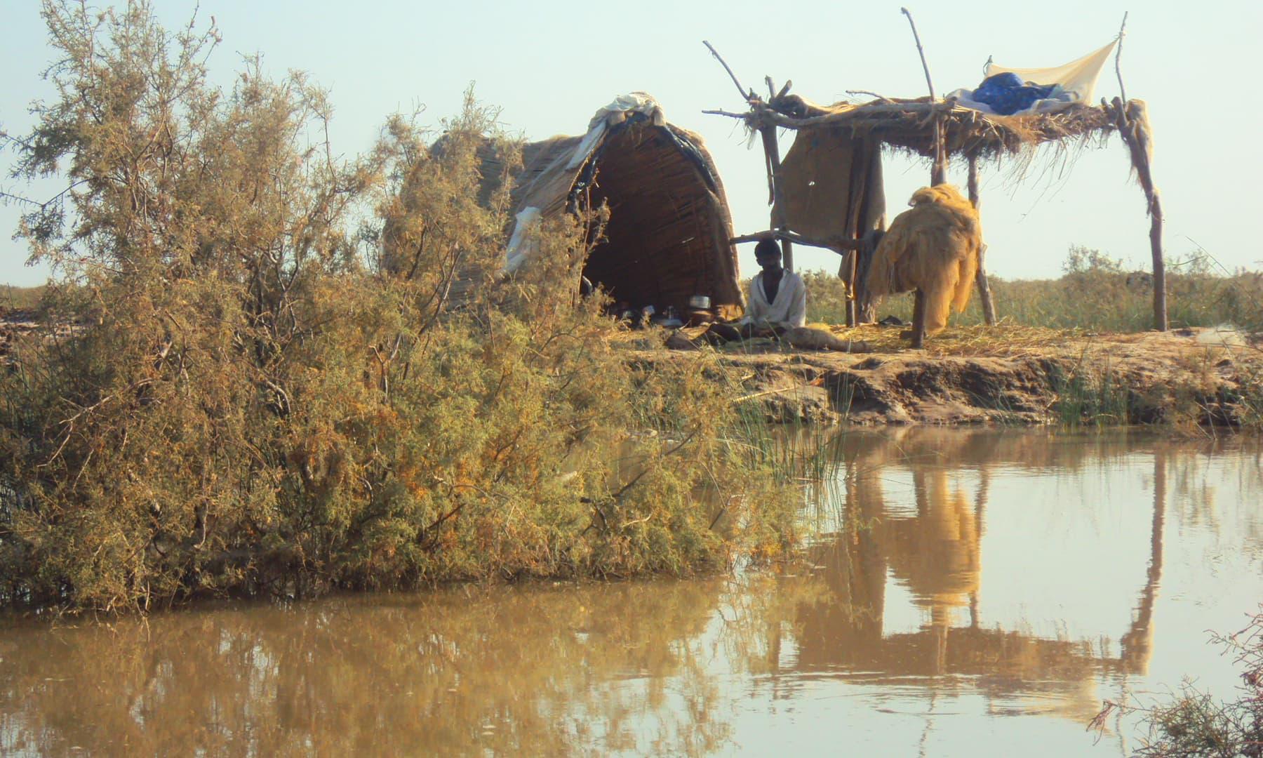 2010ء میں مچھیروں کے گھر—تصویر ابوبکر شیخ