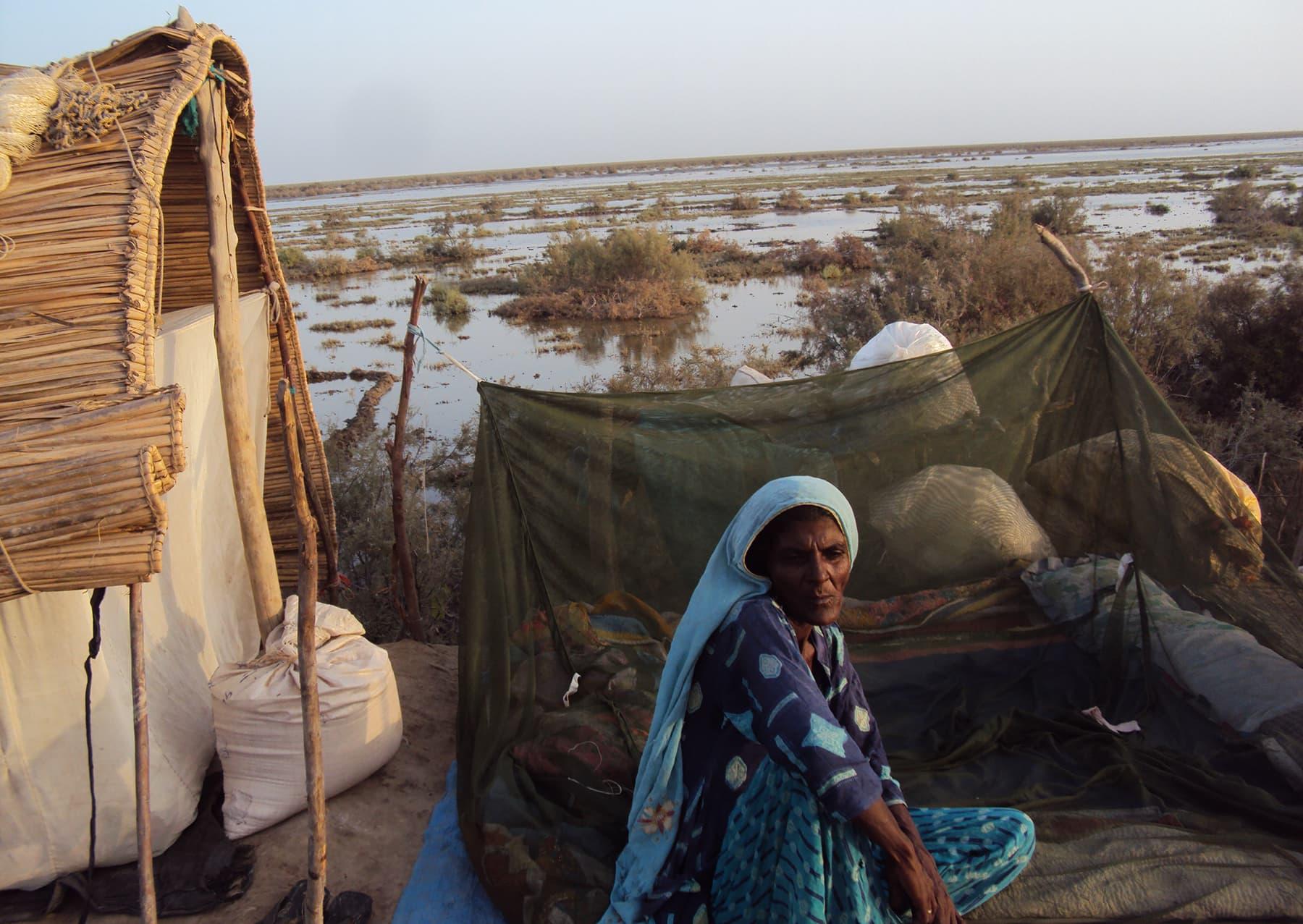 '1999ء والے طوفان سے پہلے، جب نریڑی کو کسی کی نظر نہیں لگی تھی اور وہ جوان تھی، تب سب خوش تھے'—تصویر ابوبکر شیخ