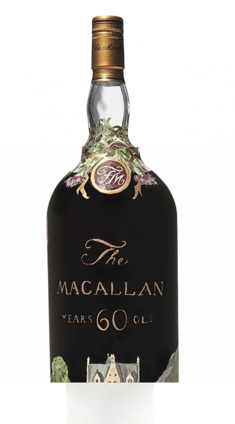 بوتل پر واضح درج ہے کہ شراب کب بنی اور کب بوتل میں ڈالی گئی—فوٹو: سی این این