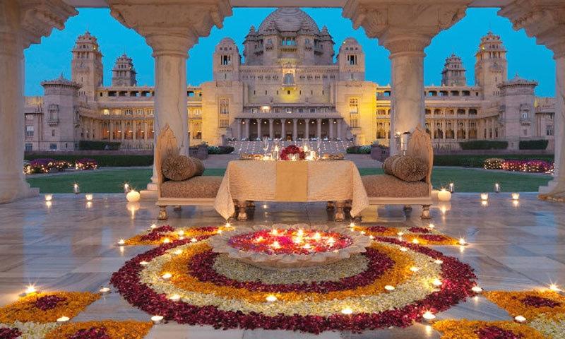 شادی تاریخی امید بھگوان پیلس ہوٹل میں ہوگی—فائل فوٹو: ٹریول ٹرائی اینگل