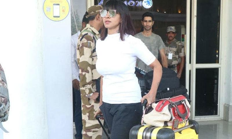 اداکارہ کی قریبی دوست بھی جودھپور پہنچیں—فوٹو: این ڈی ٹی وی