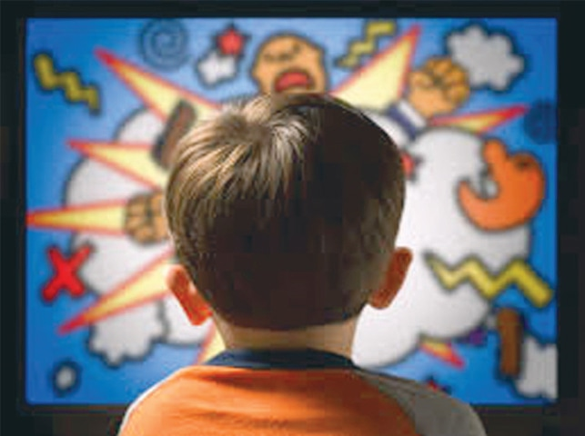Watching violent cartoons can also have an adverse impact on children