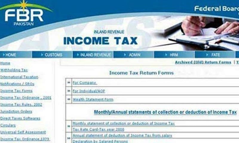 The date to file returns for companies, individuals and association is now Dec 15. — Photo courtesy FBR