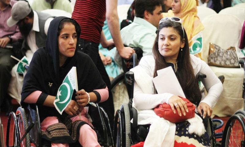 پاکستان میں 10 لاکھ معذور افراد موجود ہیں—فوٹو: این ایف ڈبلیوڈبلیو ڈی