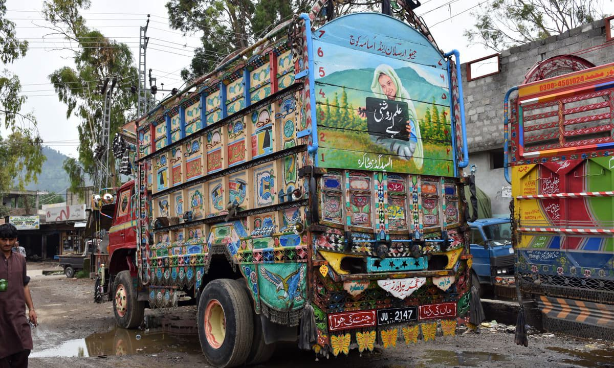 Truck art has the potential to effectively spread awareness in rural areas. —Photo courtesy Samar's Twitter handle