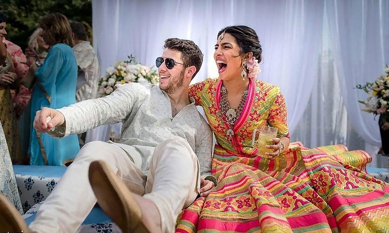 جوڑے کی شادی جودھ پور میں دھوم دھام سے ہوئی تھی—فوٹو: اے ایف پی
