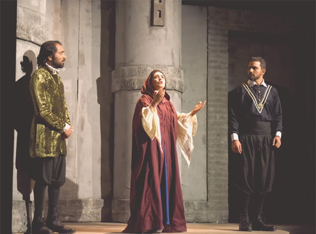 A scene from the play.—White Star