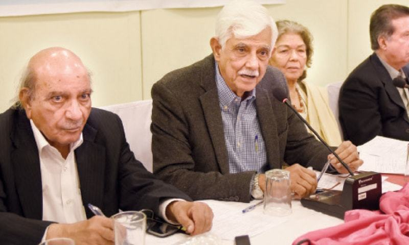 Senator Taj Haider (C) says Fafen report omitted key points regarding Form 45. — File photo