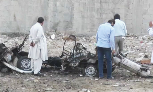 'Stolen' car explodes in Karachi's Khadda Market; no casualties reported