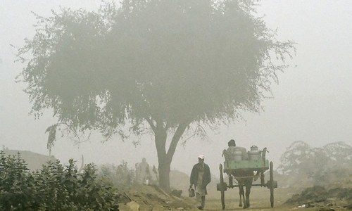 The fall in temperatures and intrusion of cold waves may cause foggy conditions in the plain areas of Punjab and upper Sindh. ─ File photo