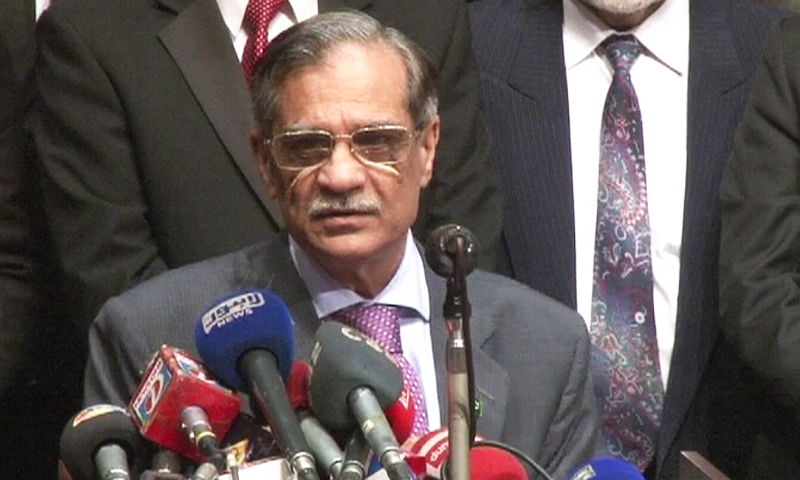 """""""If India can start liver transplant then why did Pakistan not build such a facility in the last 70 years?"""" asks Chief Justice of Pakistan Mian Saqib Nisar. ─ File photo"""