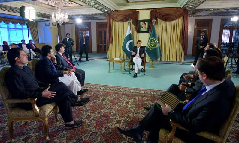 PM Khan talks economy, governance and civil-military ties in