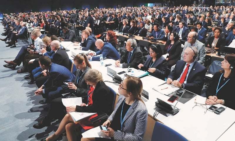دنیا بھر کے وفود ماحولیاتی تبدیلی کے سینمینار میں موجود ہیں — فوٹو، ڈان اخبار