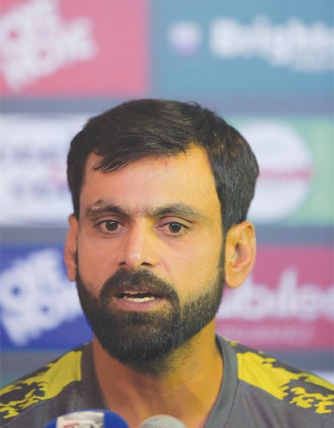 Veteran Pakistan all-rounder Mohammad Hafeez speaks during a press conference on Tuesday.—AFP