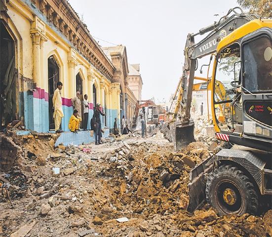Empress Market under the claws of excavators.