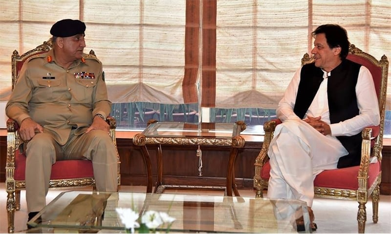 PM Imran Khan and Army Chief Gen Qamar Javed Bajwa discuss prevailing security situation in the country. — File photo
