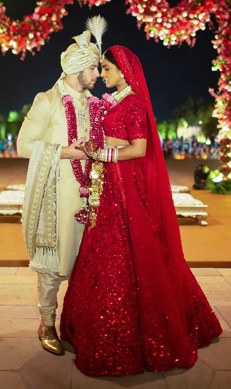 جوڑے نے عیسائی اور ہندو رسومات کے تحت شادی کی تھی—فوٹو: پریانکا انسٹاگرام