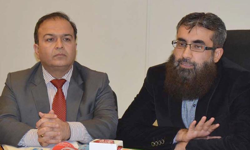 QUETTA: Coordinator Rashid Razzaq addresses the press conference.—INP