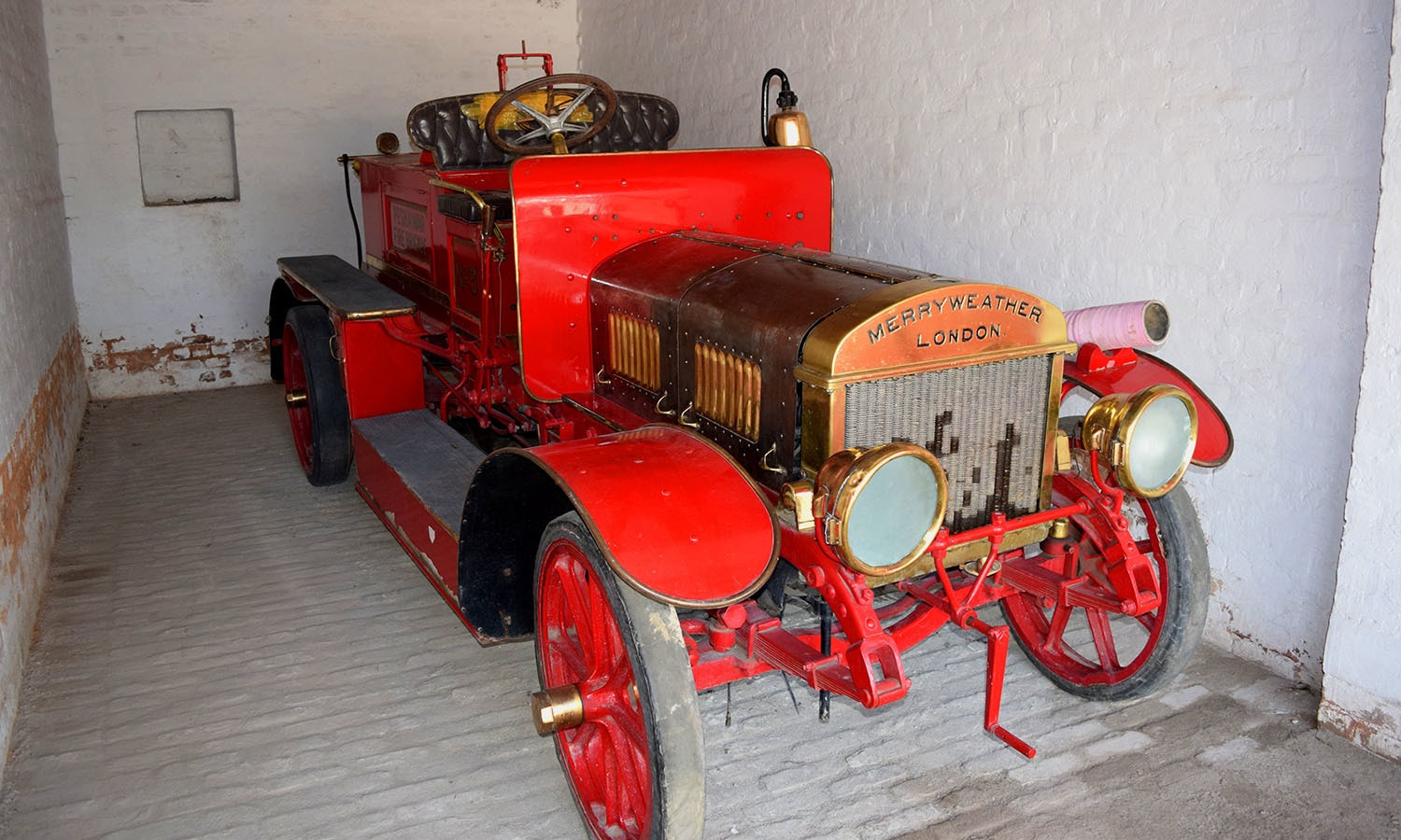 Perhaps the first fire truck in Peshawar.