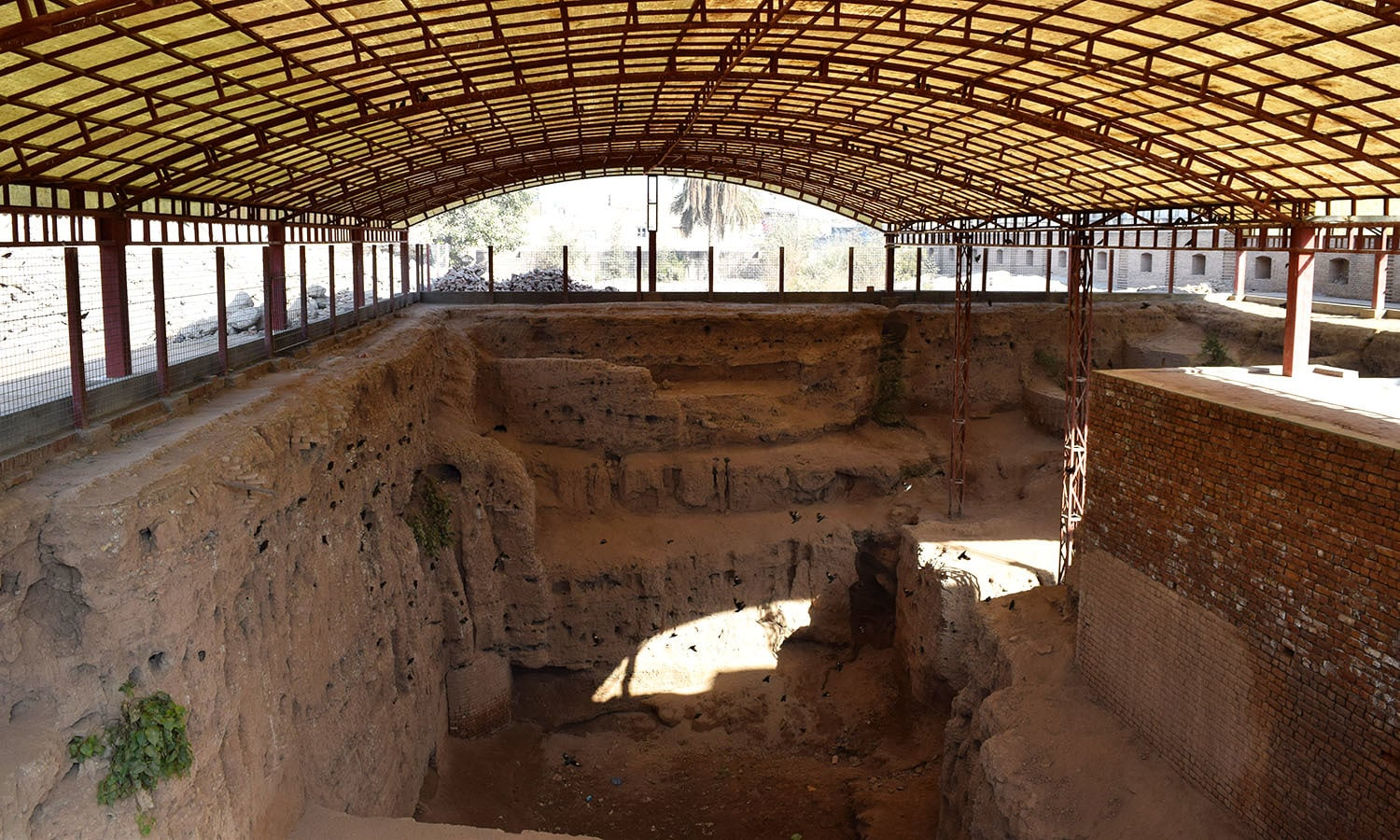 Gorkhatri excavation site dating from 200 BCE.—All photos by the author
