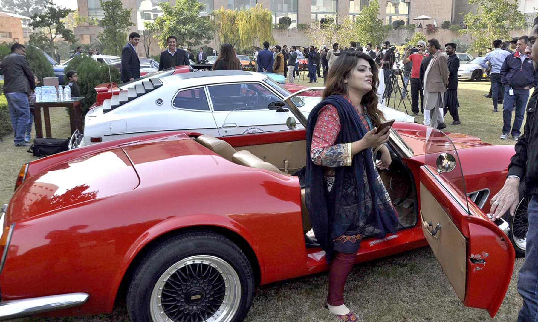 The show witnessed a large group of admirers looking to get a feel of what it was like to ride a now classic vehicle. —APP
