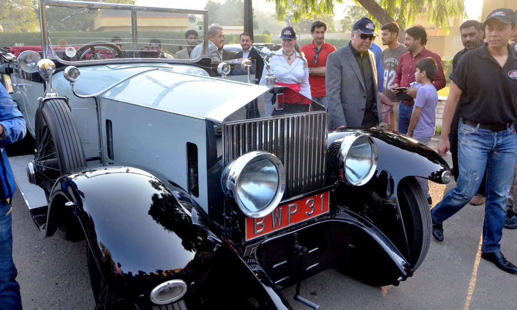 The glittering cars from the show held in Peshawar included the 1947 Rolls-Royce Silver Wraith and the 1924 Rolls-Royce Silver Ghost used on August 14, 1947 by Quaid-i-Azam. —@PTIofficial
