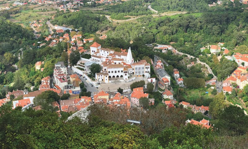 Bird's-eye view of Sintra from Moors Castle | Photos by the writer
