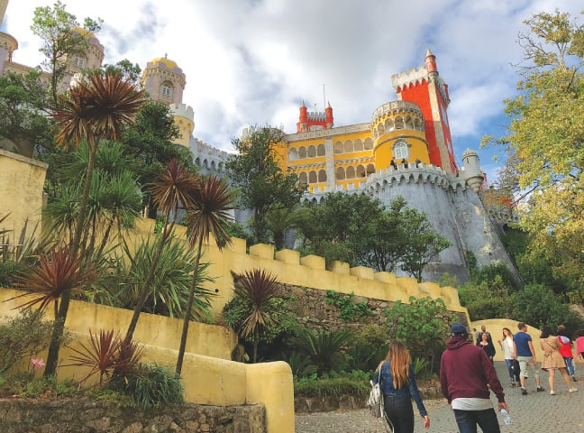 First glimpse of Pena Palace