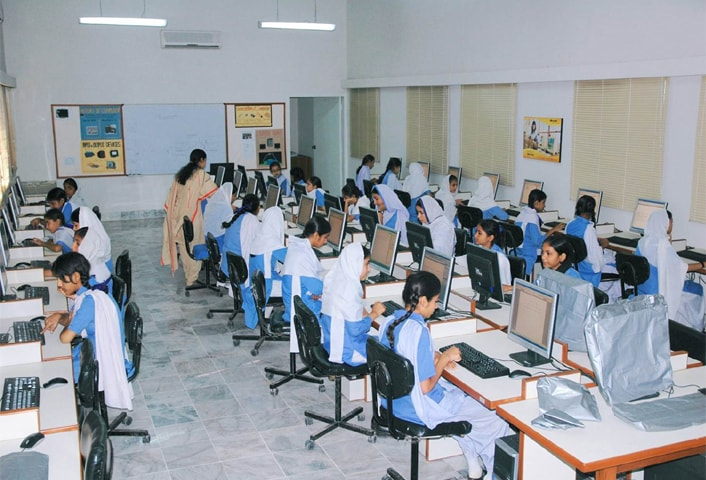A new computer lab was established at the school.