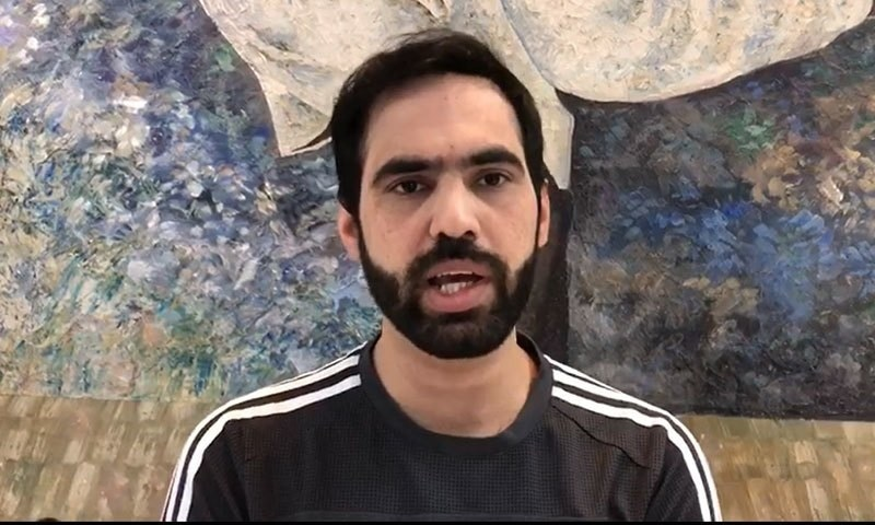 """Farhan Mehboob claims he had refused the offer saying he """"wouldn't sell his country even if [he's] offered a billion rupees"""". —Screengrab from video provided by author"""