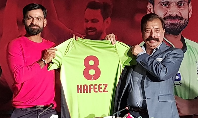 Mohammad Hafeez has been chosen as the captain for the Lahore Qalandars in the fourth season of the Pakistan Super League. ─ Photo courtesy PSL Twitter