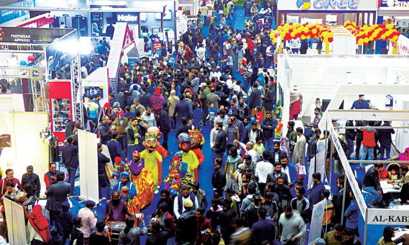 A large number of people visit All About Lifestyles exhibition on the concluding day at Expo Centre. — White Star