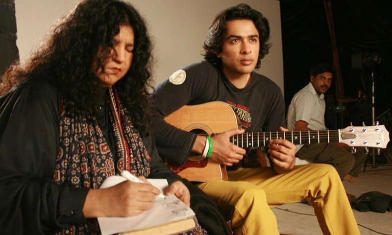 From L: Abida Parveen and Shehzad Roy.