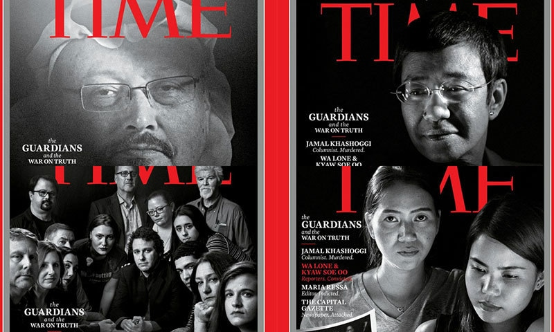 جمال خاشقجی سمیت 5 صحافی ٹائم میگزین کے 'پرسن آف دی ایئر' قرار