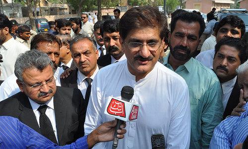 Sindh Chief Minister Murad Shah. ─ File photo