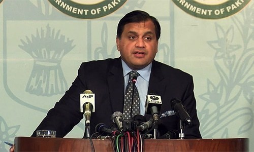Foreign Office Spokesman Muhammad Faisal. ─ File photo